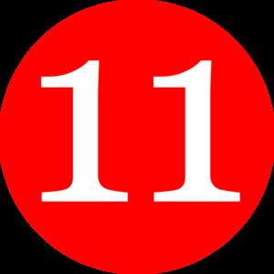 Number 11 Clip Art