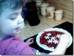 Amity making pie