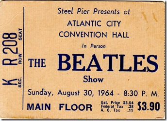 Beatles Ticket